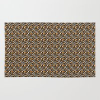 beaver Area & Throw Rugs featuring Beaver Fight Song by Bob Greenwade