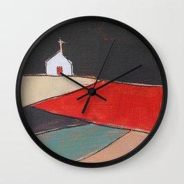Church on a Hill Wall Clock