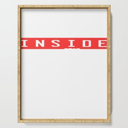 """A Nice Inside Theme Tee For You Who Loves Being Inside """"The Ghost Inside Full Speed Ahead"""" T-shirt Serving Tray"""