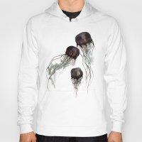 jellyfish Hoodies featuring Jellyfish by Hana Robinson