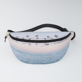 Vintage Newport Beach Print {3 of 4} | Photography Ocean Palm Trees Cool Blue Tropical Summer Sky Fanny Pack