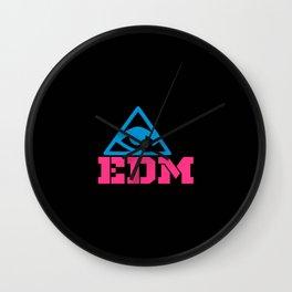 EDM rave logo Wall Clock