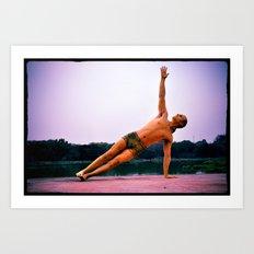 Ashtanga Yoga Asana Vasisthasana B Art Print