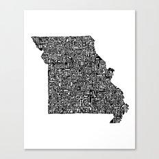 Typographic Missouri Canvas Print