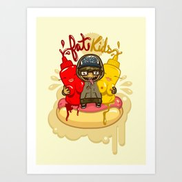 Fat Kids Art Print