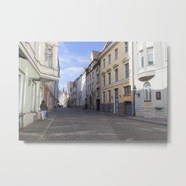 Streets of Tallinn Estonia Metal Print