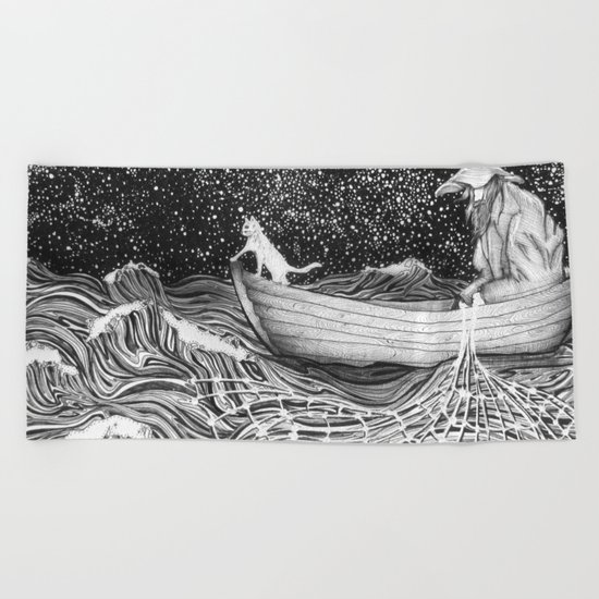 The Fisherman's Companion Beach Towel