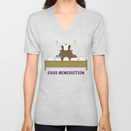 Eggs Benediction Unisex V-Neck
