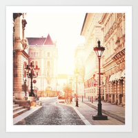 budapest Art Prints featuring Budapest by Giulia Squillace