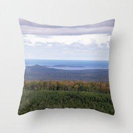 Huron Islands and Huron Mountains Throw Pillow