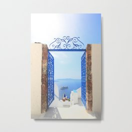 Oia Santorini  Metal Print