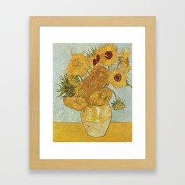 Van Gogh Sunflowers Framed Art Print