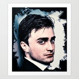 Portrait of Daniel Radcliffe Art Print