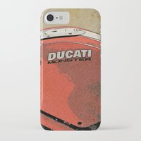 ducati iPhone & iPod Cases featuring Ducati Monster by Larsson Stevensem