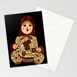 Russian dolls 2 / warmer colors  Stationery Cards