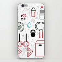 crossfit iPhone & iPod Skins featuring CrossFit Love by Golden Heart