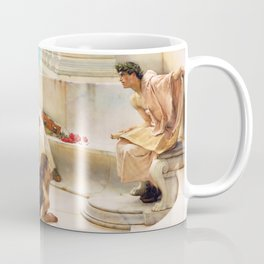 Lawrence Alma-Tadema - A Reading From Homer1 - Digital Remastered Edition Coffee Mug