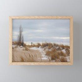 Winter Dunes Framed Mini Art Print