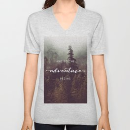 And So The Adventure Begins - Pacific Northwest Unisex V-Neck