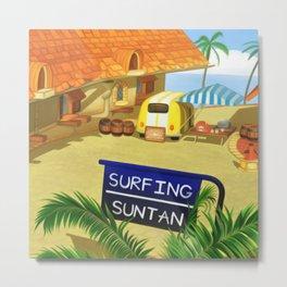 Costa Del Sol Surfing Suntan Metal Print