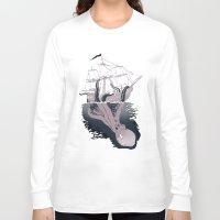 kraken Long Sleeve T-shirts featuring Kraken by Alex Ray