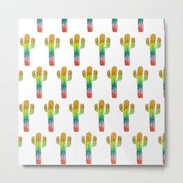 Desert Rainbow II PRIDE PATTERN Metal Print