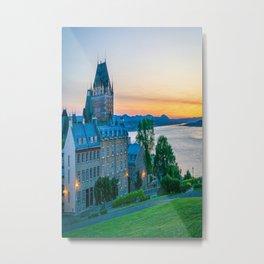 Quebec City Sunset Print Metal Print