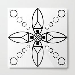 Ancient Religious Symbols Metal Print