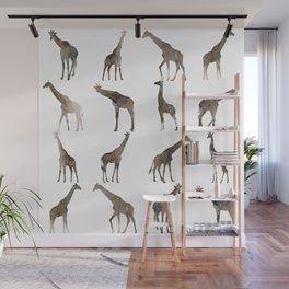 Giraffes Pattern Wall Mural