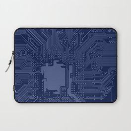 Blue Geek Motherboard Circuit Pattern Laptop Sleeve