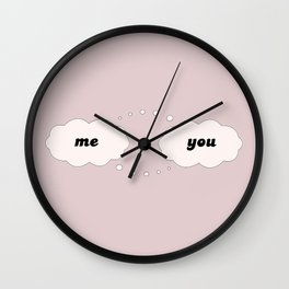 Me Thinking of You Wall Clock
