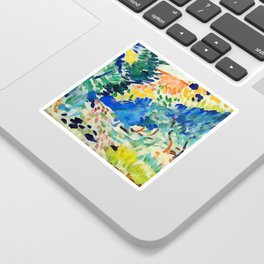 Henri Matisse Landscape at Collioure II Sticker