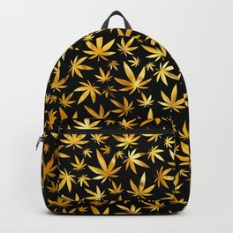 Black Gold Weed Pattern Backpack