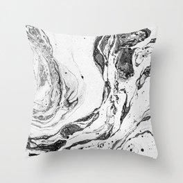 Black and white #1 Throw Pillow