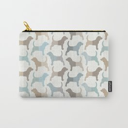 Beagle Silhouettes Pattern - Natural Colors Carry-All Pouch
