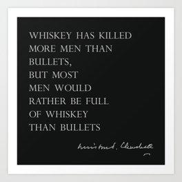 Whiskey & Bullets Art Print