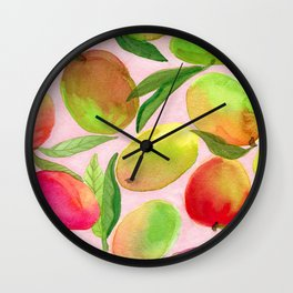 Mango Watercolor Painting Wall Clock