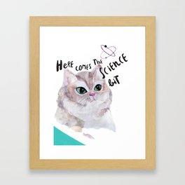 Science Cat Framed Art Print