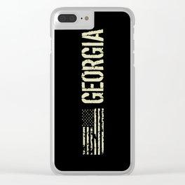 Black Flag: Georgia Clear iPhone Case