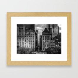 Urban Canyons - B&W Framed Art Print