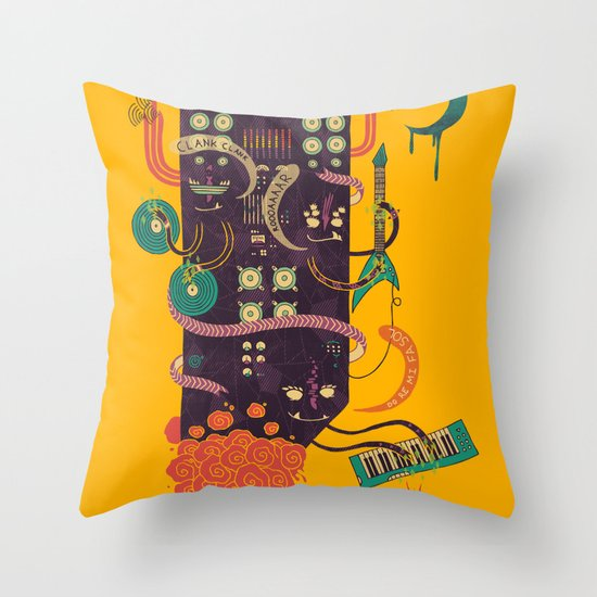 Power Trio Throw Pillow