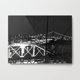 WHITEOUT : Standing 'Top the Bright Lit City Metal Print