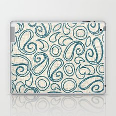 ziya cream blue Laptop & iPad Skin