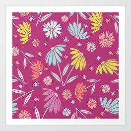 Garden Flowers Style H Art Print