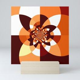 Orange Brown Cream Kaleidoscope Mini Art Print