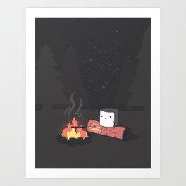 'Mallow Bonfire Art Print