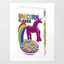 Unicor flakes breafast Art Print