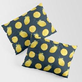Watercolor Lemon Pattern Pillow Sham