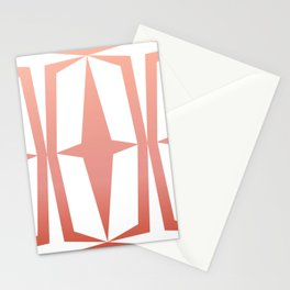 Mid Century Muse: Medallion in Coral Stationery Cards