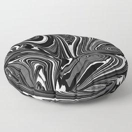 Black White Grey Marble Floor Pillow